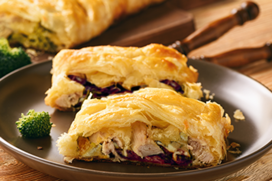 Chicken Roll Stuffed with Radicchio Lungo Precoce or Radicchio Tardivo